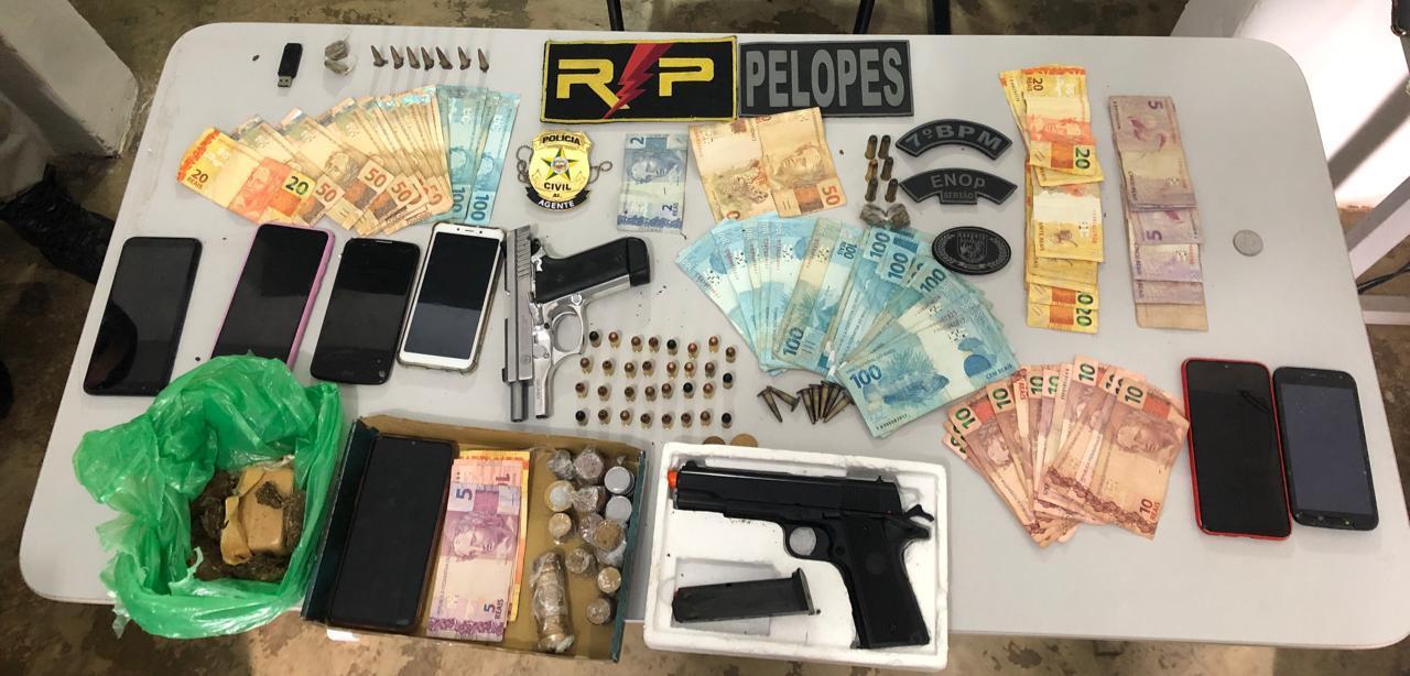 Operação Ypanema: Gaeco e SSP cumprem 15 mandados de prisão e busca e apreensão contra Orcrim de tráfico de drogas em Santana do Ipanema